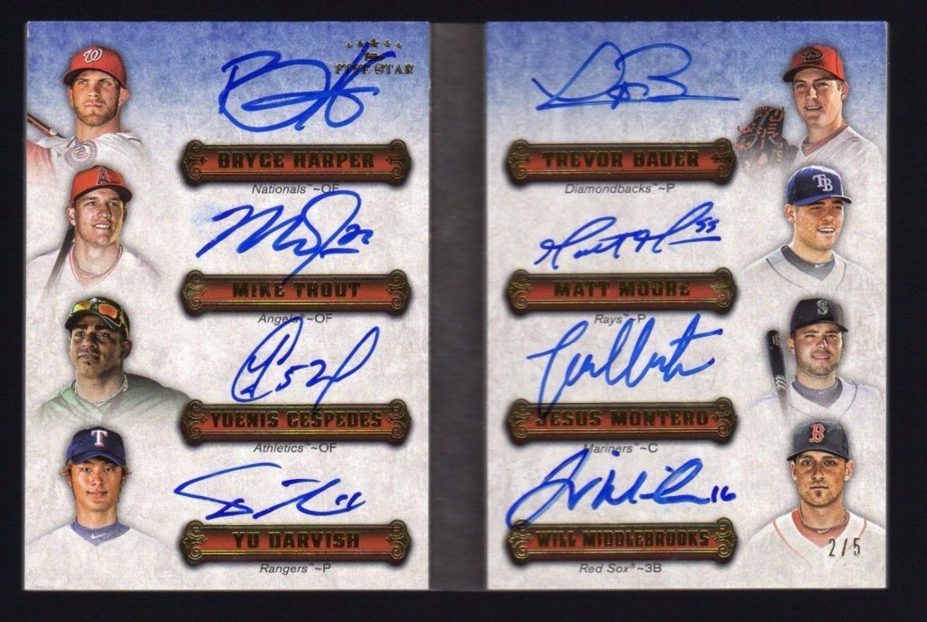 2012 Five Star Baseball Group Break Checklists