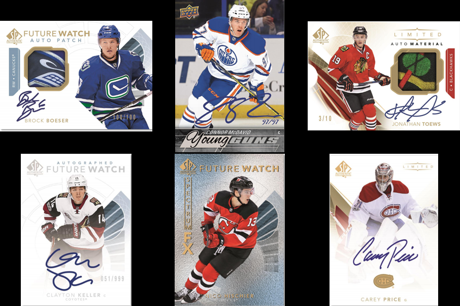 a72a7738d88 17/18 SP Authentic Hockey – Pricing on Ebay; Hottest Cards on Ebay Here