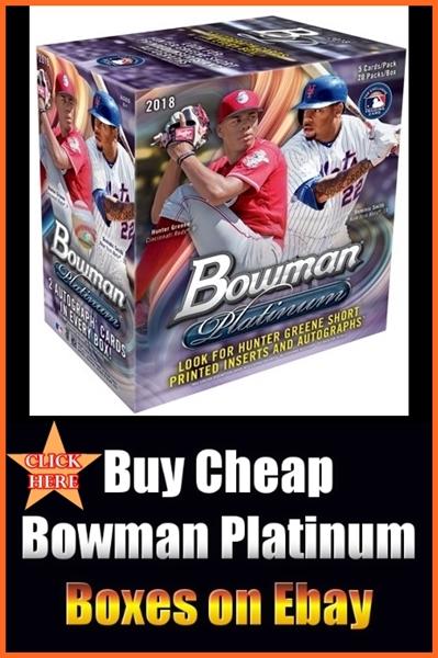 2018 Bowman Platinum Baseball Group Break Checklists
