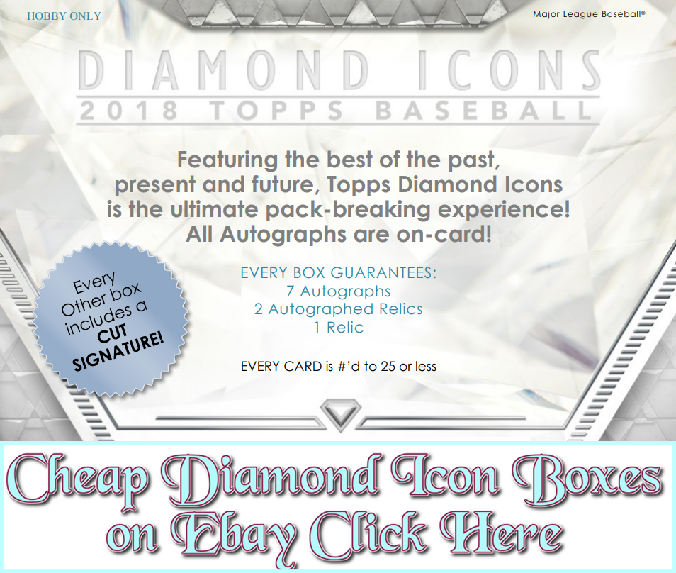2018 Diamond Icons Baseball Group Break Checklists