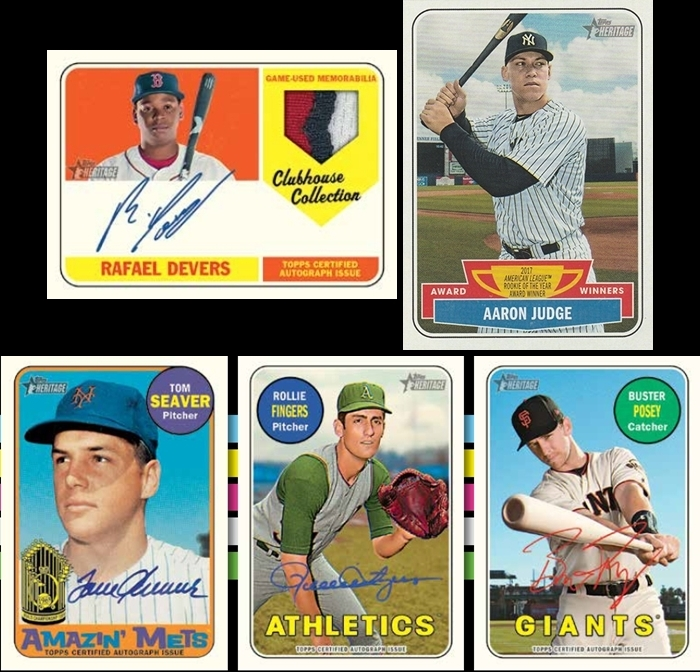 2844e5273 2018 Topps Heritage High Number Baseball ✯Group Break Checklists