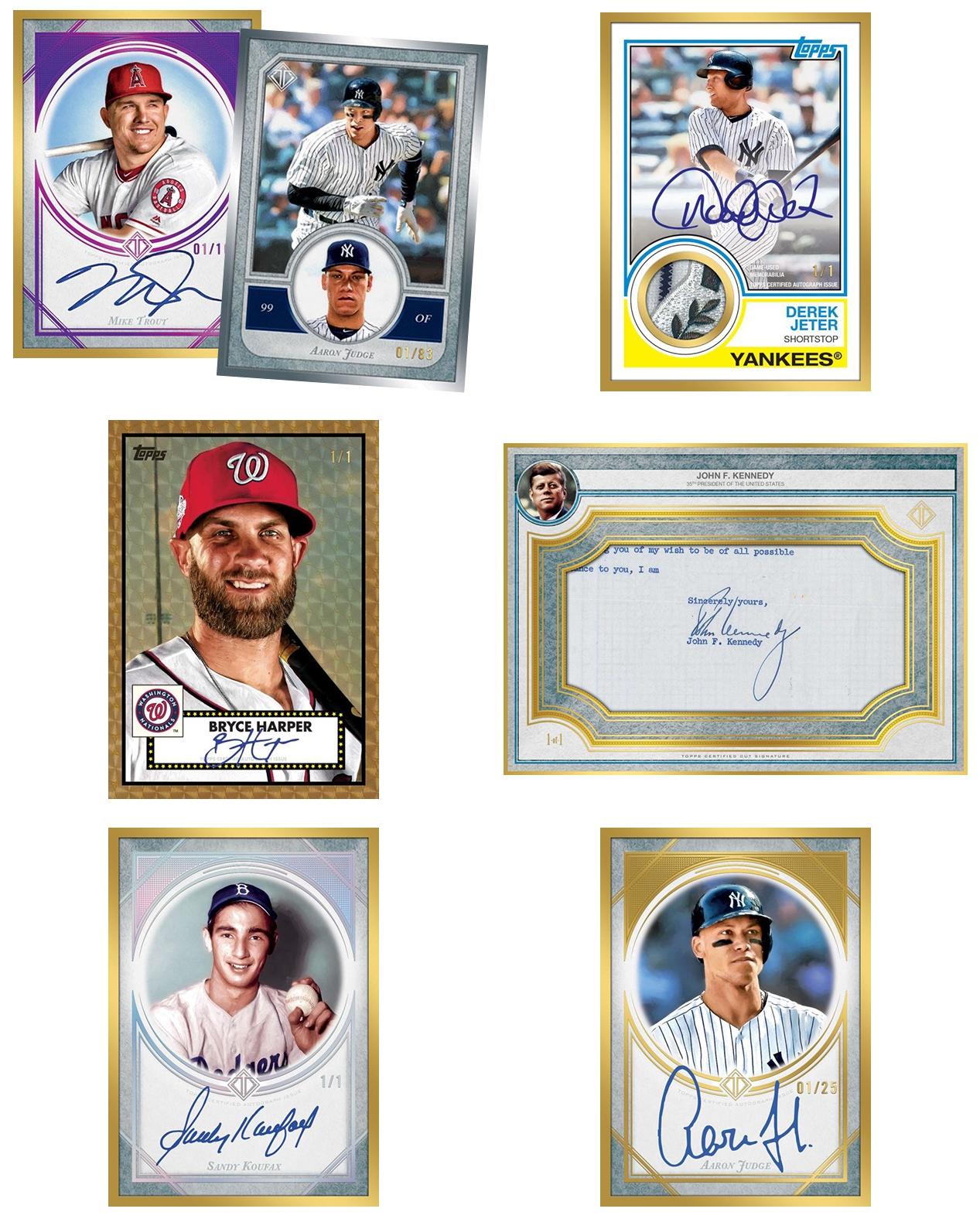 2018 Topps Transcendent Baseball Group Break Checklists